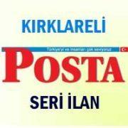 Kırklareli Posta iş ilanları