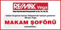 Gebze Organize Sanayi Bölgesinde faaliyet gösteren Remax Vega B sınfı ehliyetli en lise mezunu 5 yıl deneyimli 28-45 yaş arası Makam Şoförü aramaktadır.