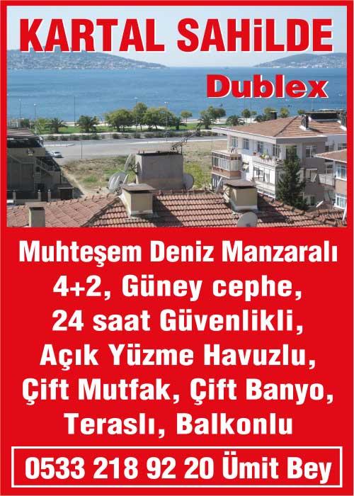 Kartal Sahilde Satılık Dublex