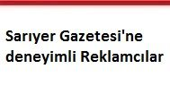 Sarıyer Gazetesi'ne deneyimli Reklamcılar aranıyor.