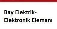 bay elektrik- elektronik elemanı aranıyor