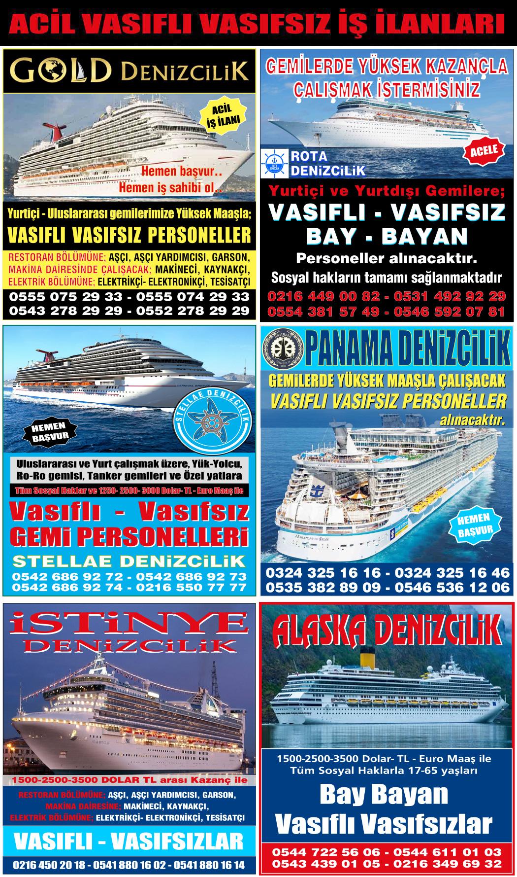 Port Ship's denizcilik iş ilanları, vasıfsız eleman ilanı, acil iş ilanları
