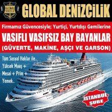 Uluslararası ve Yurt içi, Gemi ve özel yatlarda, Vasıflı ve vasıfsız Personeller alınacaktır.