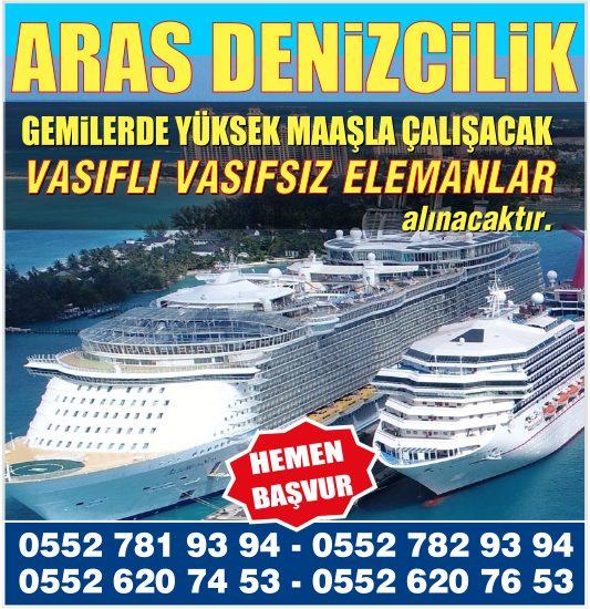 Yurt içi Yurtdışı Gemi ve özel yatlarda, Gemilerde Çalışacak Vasıflı Vasıfsız Gemi Elemanı alınacaktır.